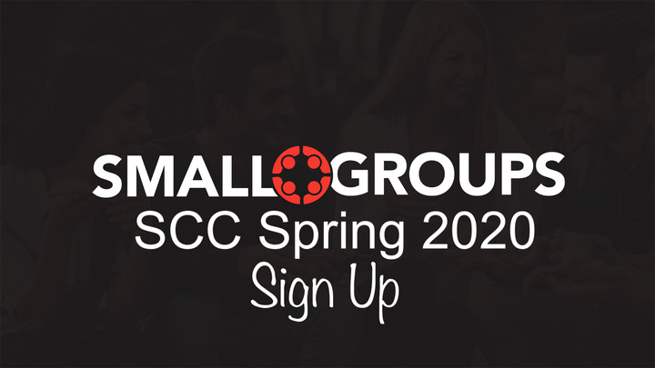 Small Groups Spring 2020 Sign Up logo image
