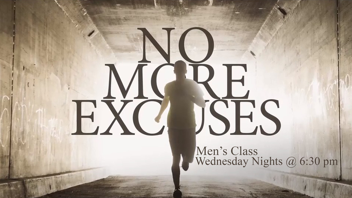 No More Excuses - Men (Rialto Campus) FAMILY NIGHT  logo image