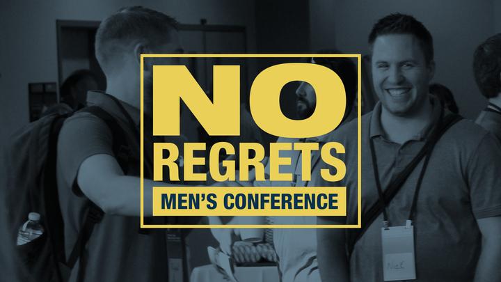 No Regrets Mens' Conference logo image