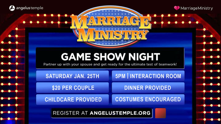 Marriage Ministry Game Show Night Costume Party!   logo image