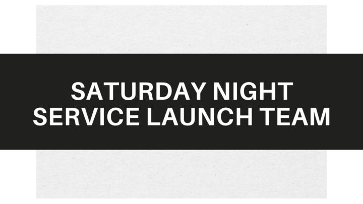 Saturday Night Service Launch Team logo image