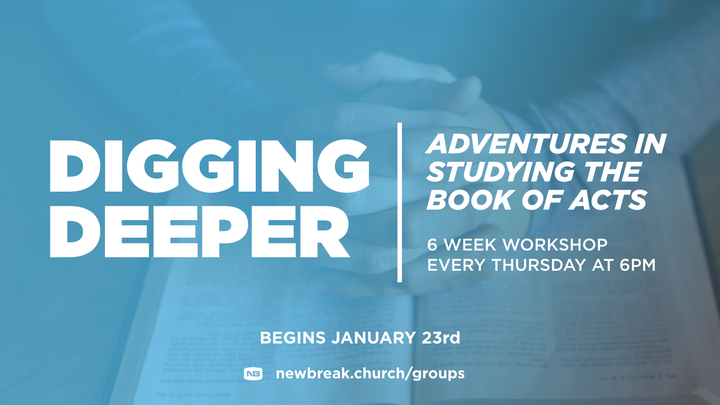 Digging Deeper | Adventures in Studying the Book of Acts logo image
