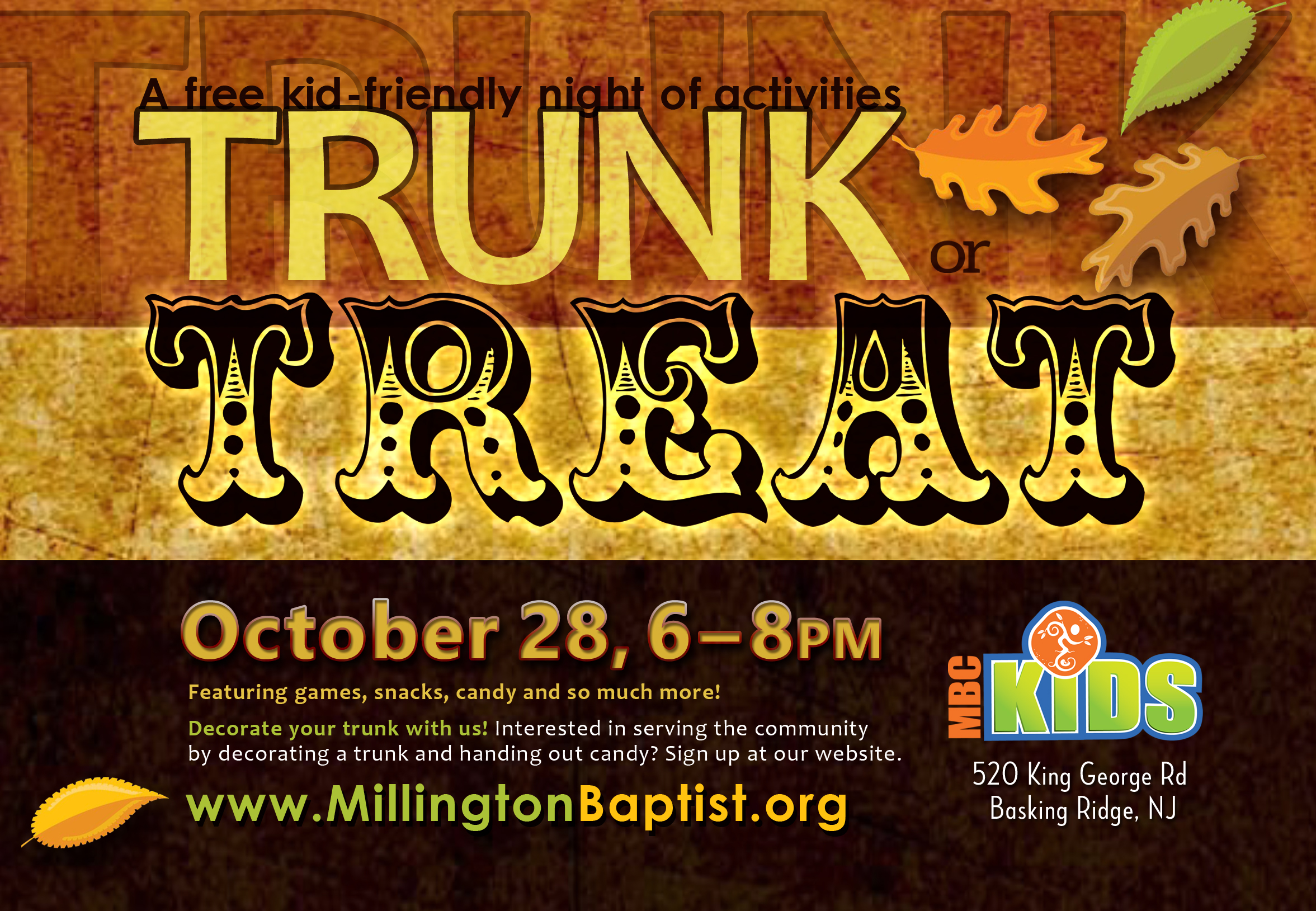 Trunk or treat postcard 2016