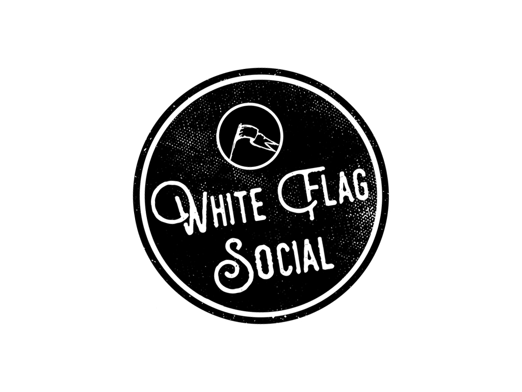 White flag social logo pcr