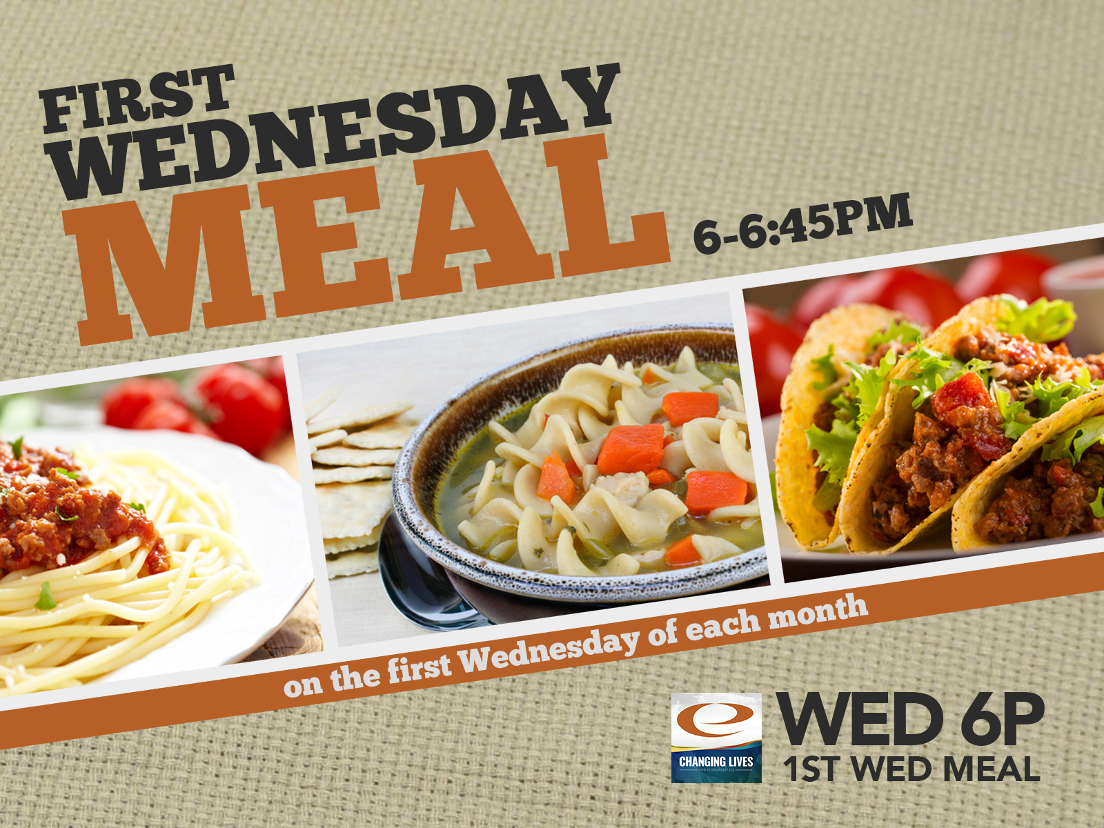 1st wednesday meal