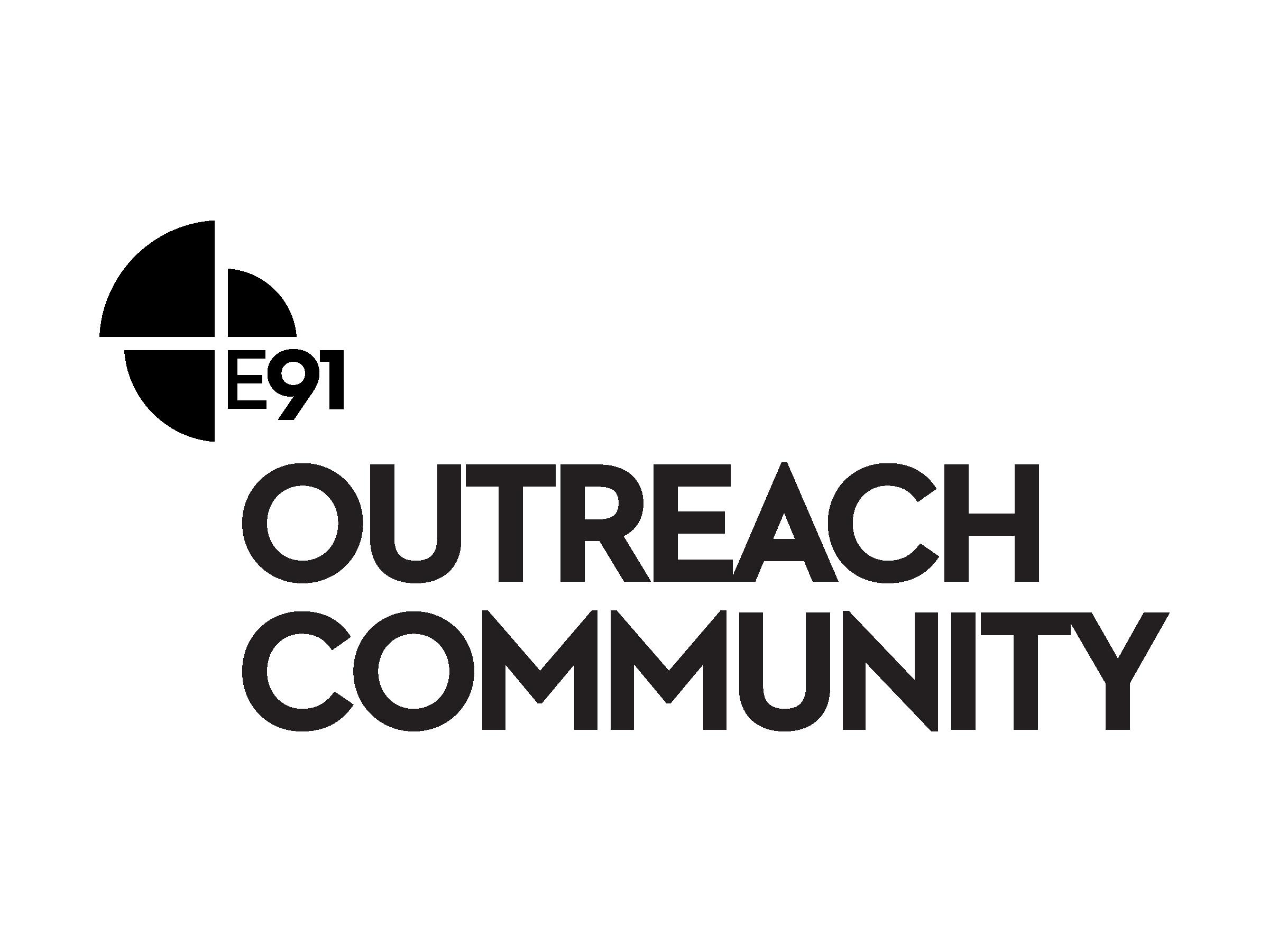 E91 outreachcommunity logo digital black