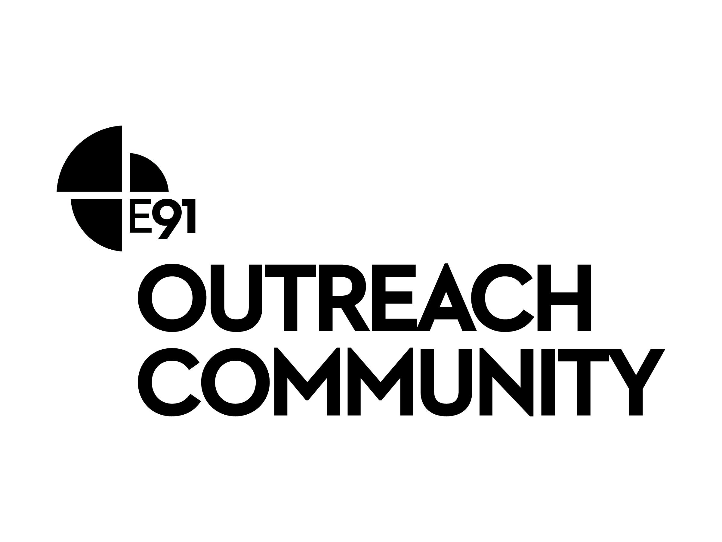 E91 outreachcommunity logo print black