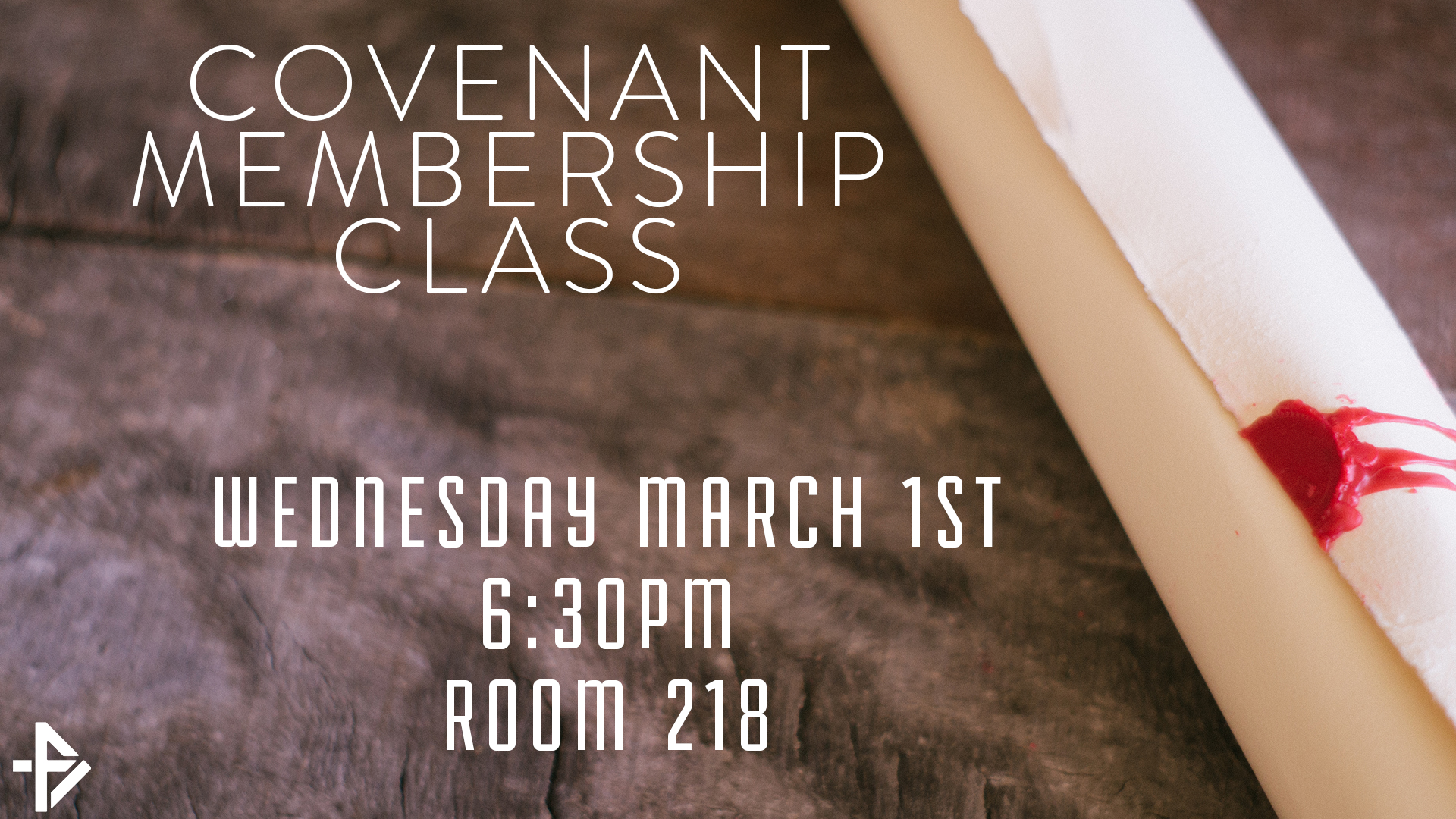 Covenant membership class march titlesplash