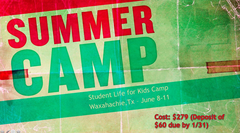 Camp announcment