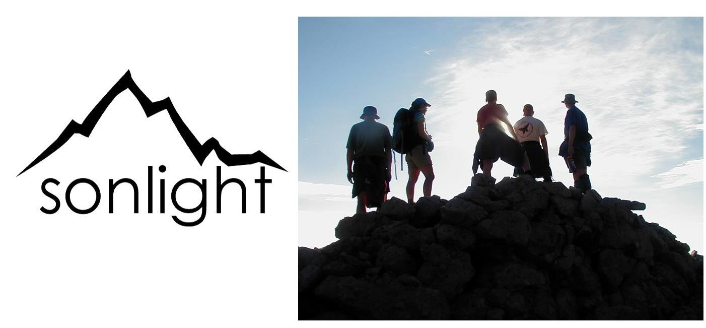 Sonlight backpacking logo with pic