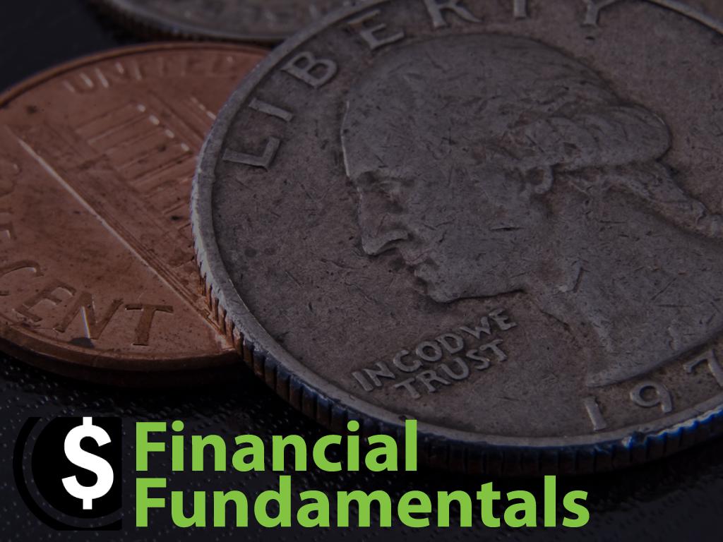 Financial fundamentals registration graphic