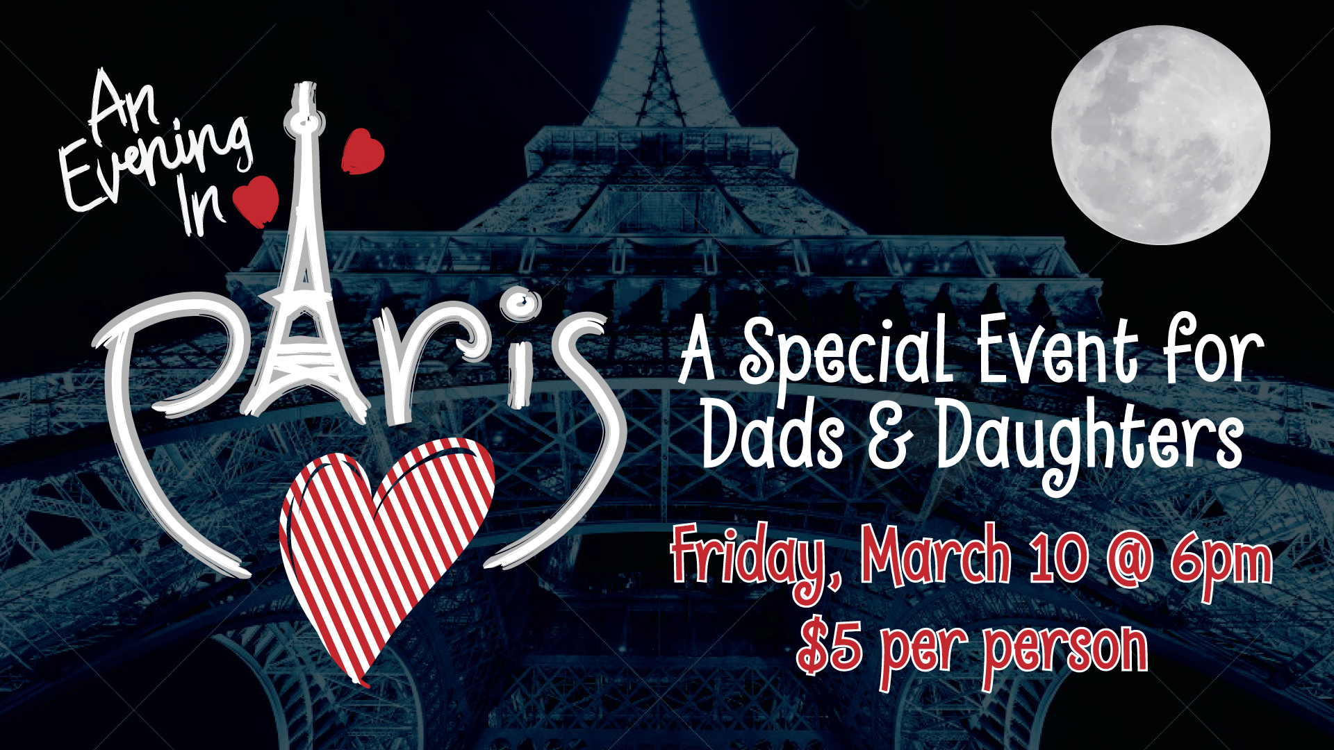 Slide an evening in paris daddy daughter night