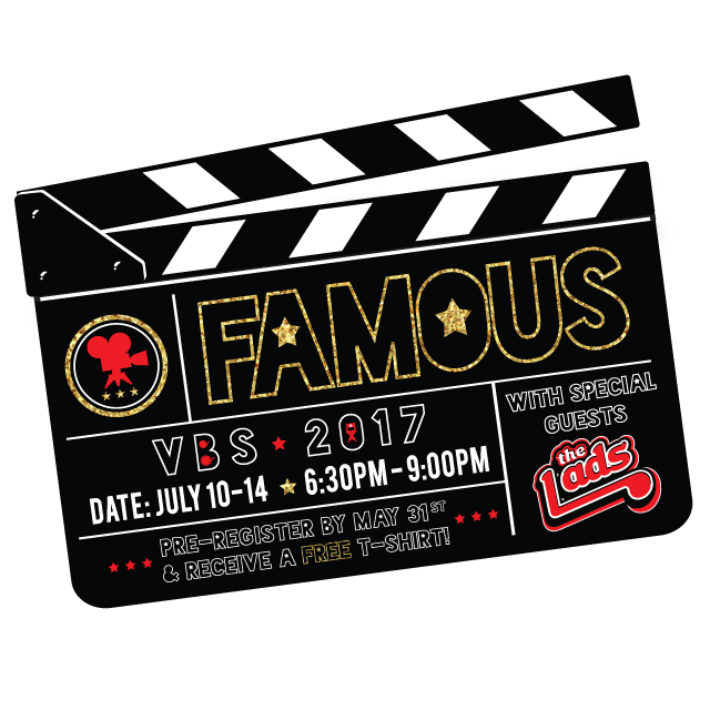 Famous vbs 2017   info logo with lads