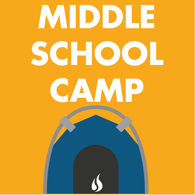 Ablaze stock graphic project  recovered  middle school camp