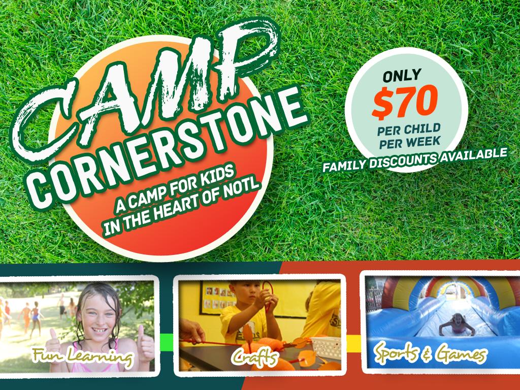 Camp cornerstone registrations logo
