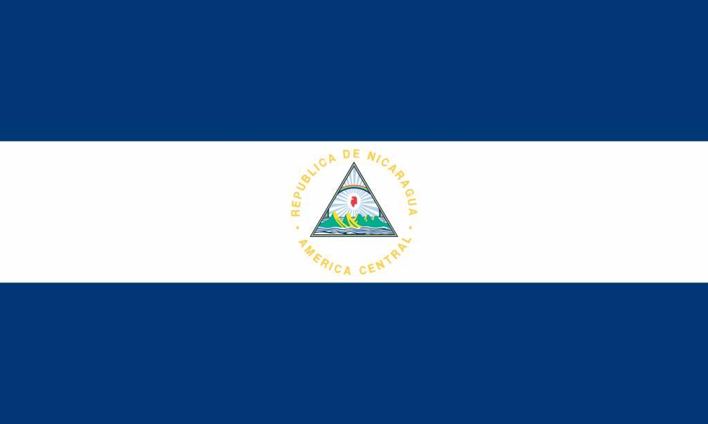 Nicaragua flag vector free download