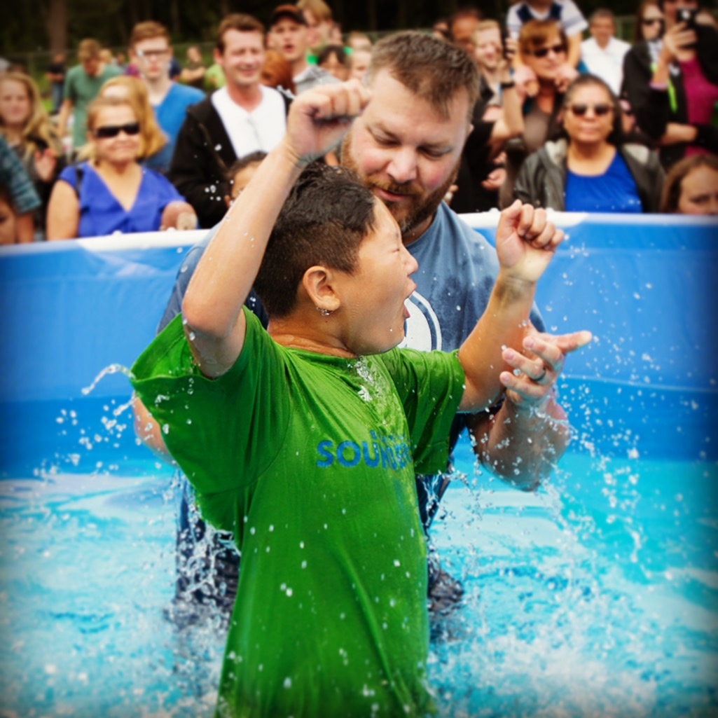 Baptism in pool july 2016