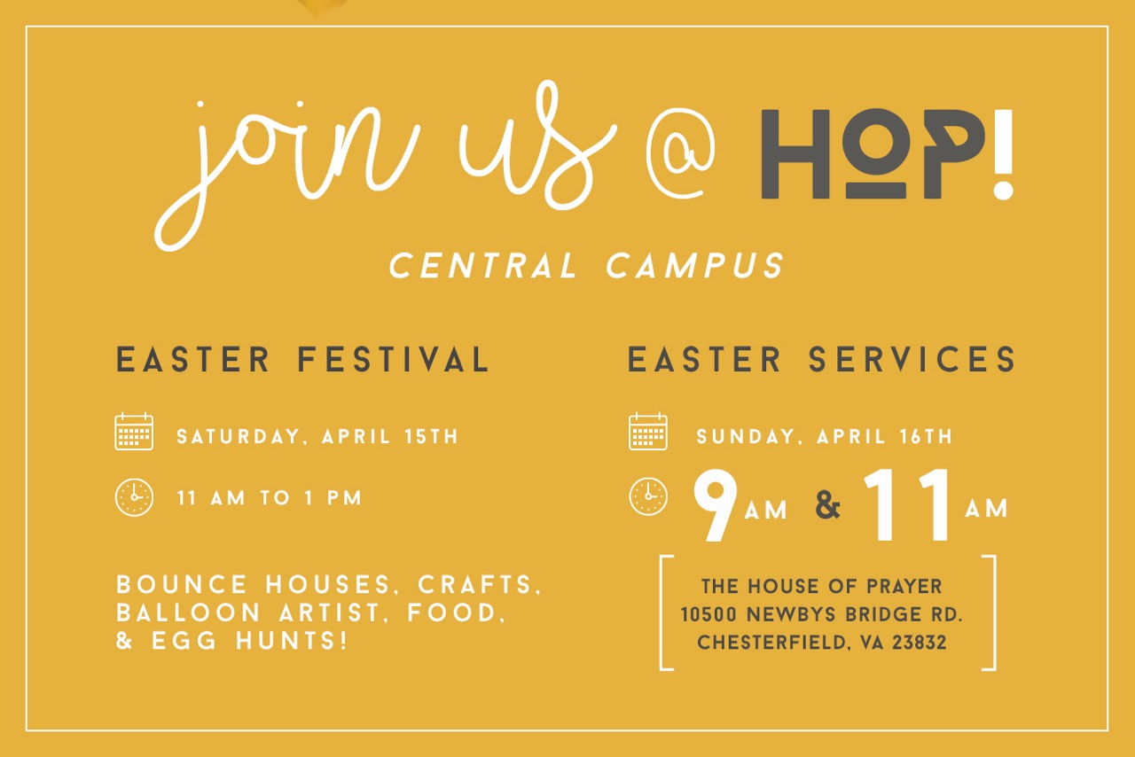 Easter graphic invite card back