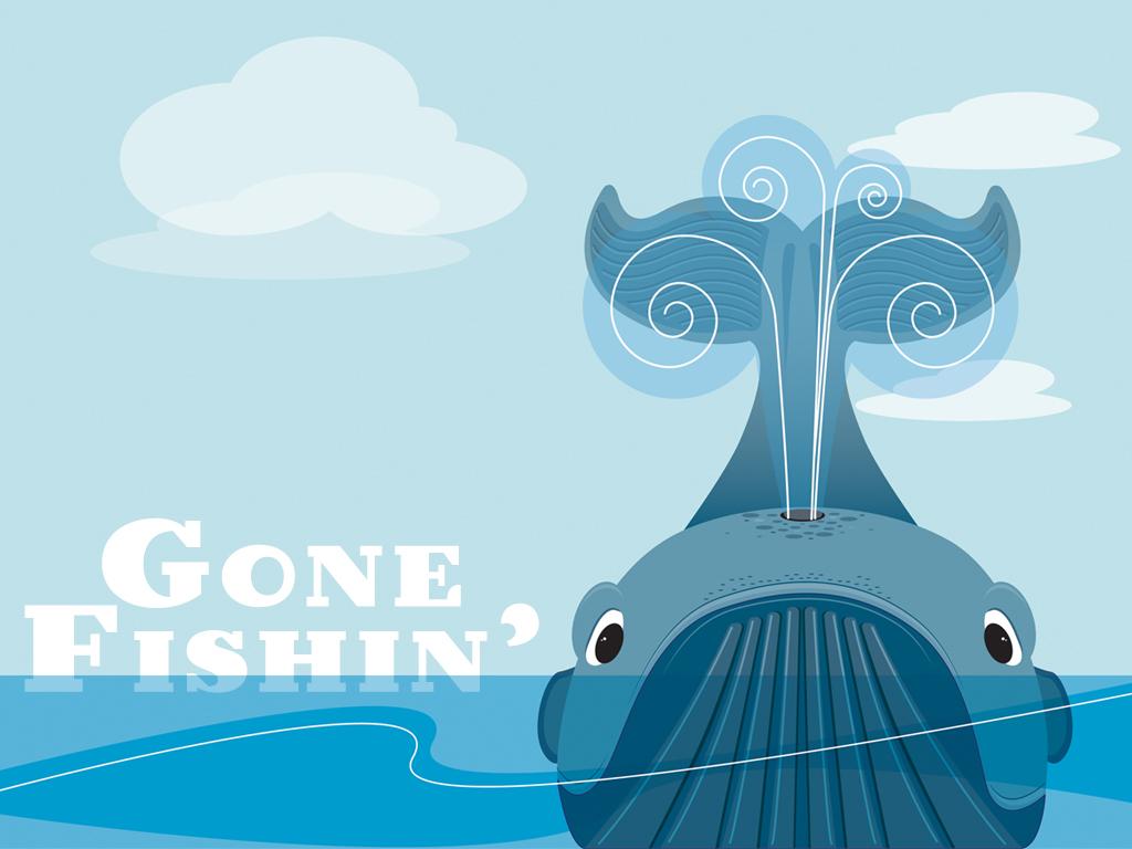 Gone fishin main slide