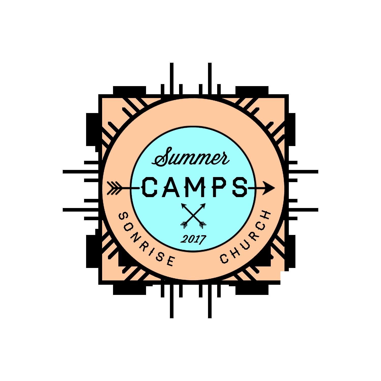 Camp logo blue orange