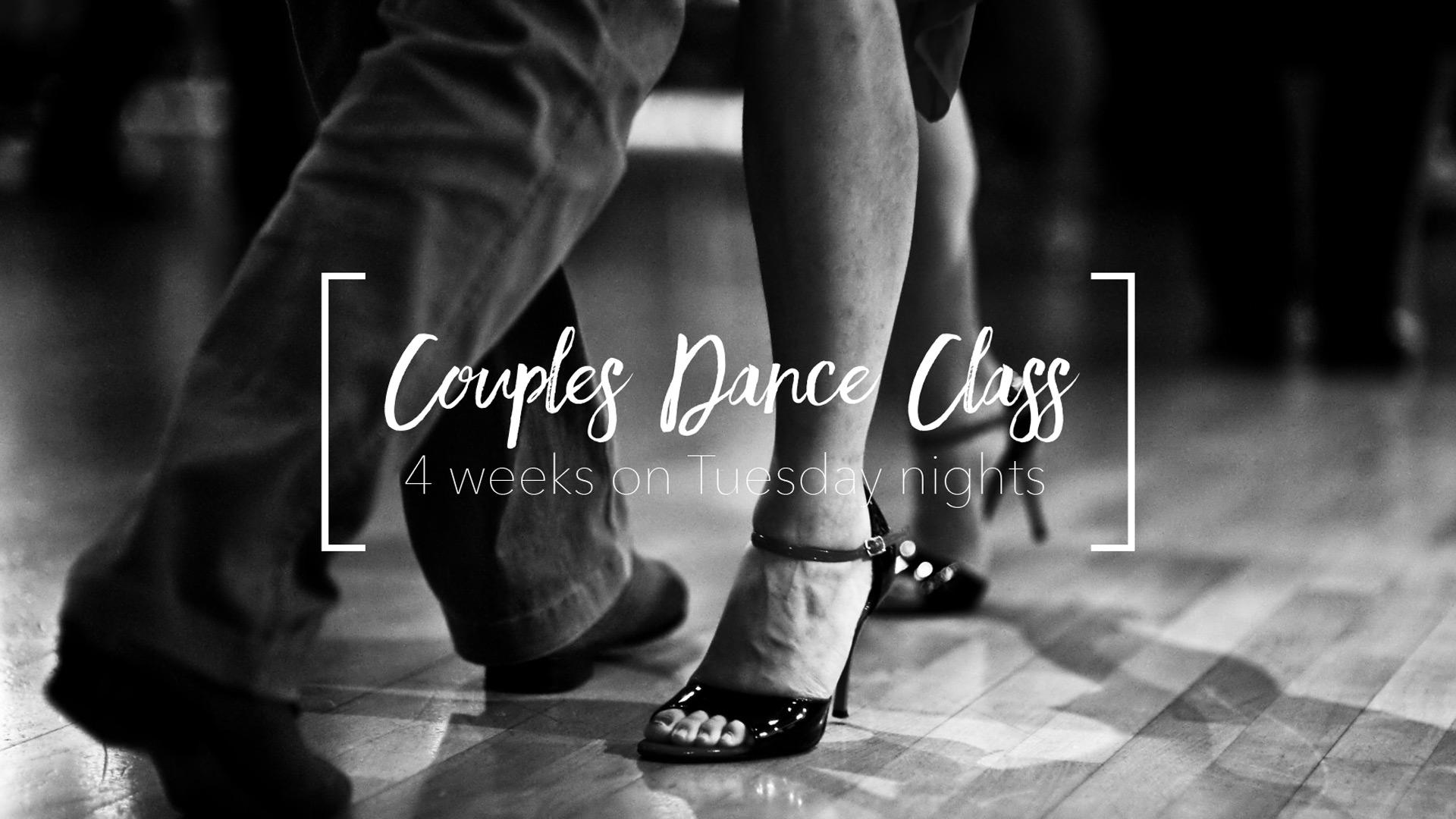 Couples dance class