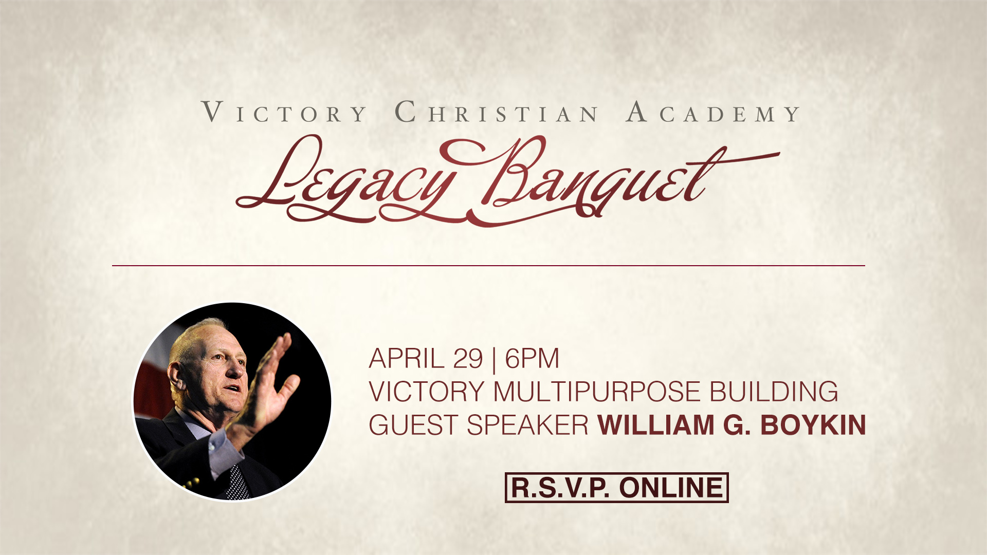 Legacy banquet logo full