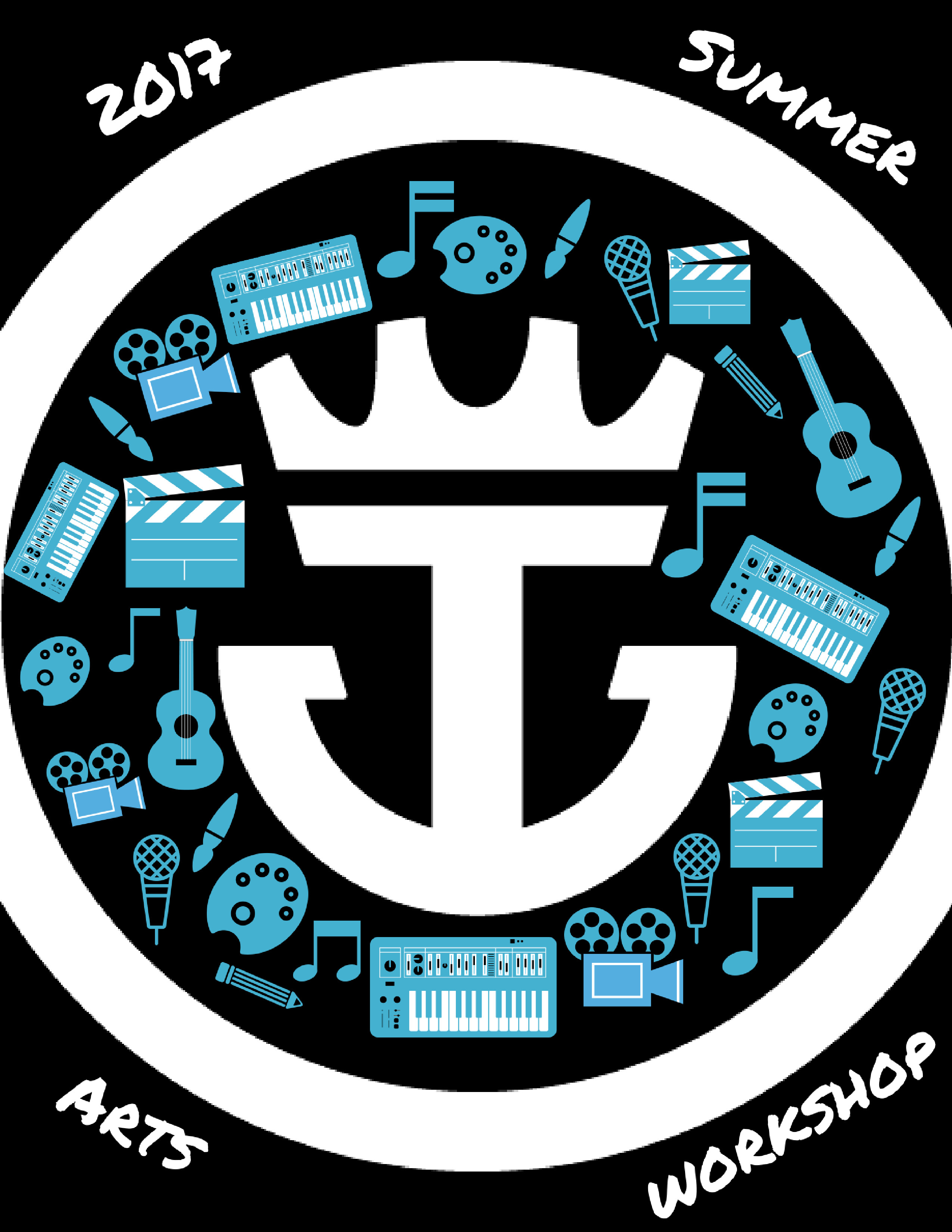 2017 summer arts workshop logo ideas ver2
