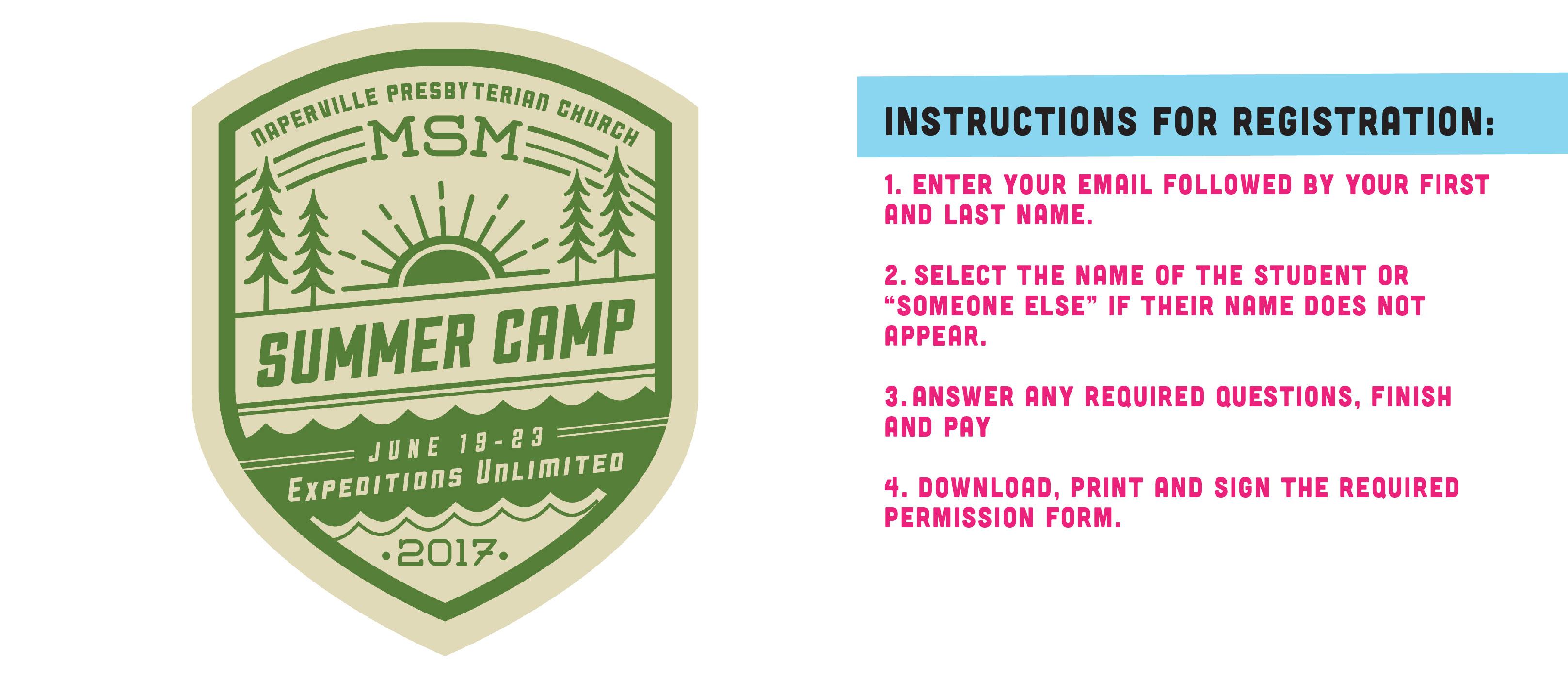 Msm camp pc instructions
