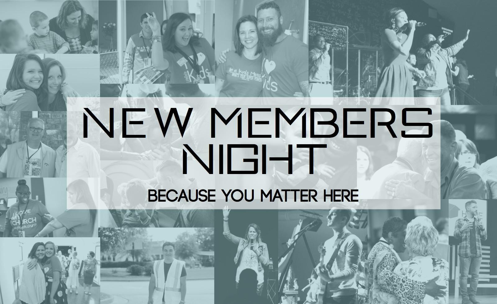 New members night logoj