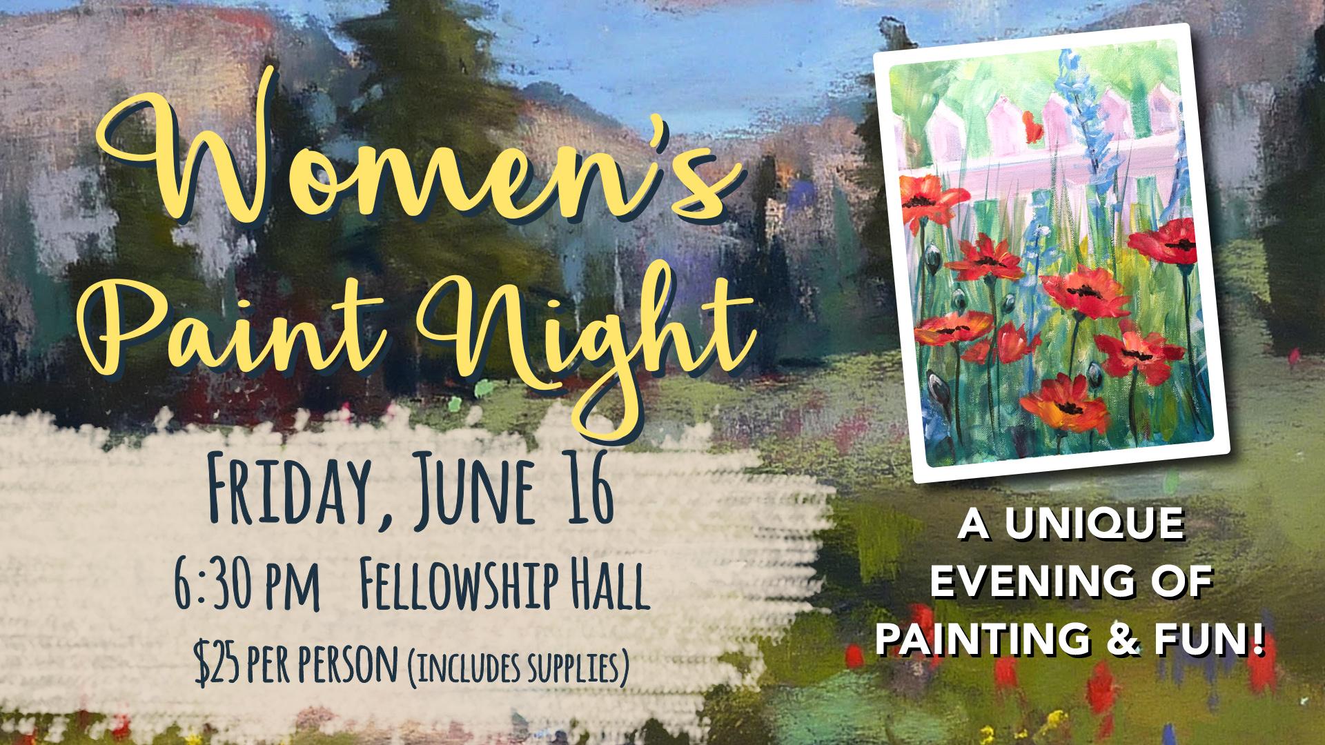 Women s paint night   june 2017 registration graphic