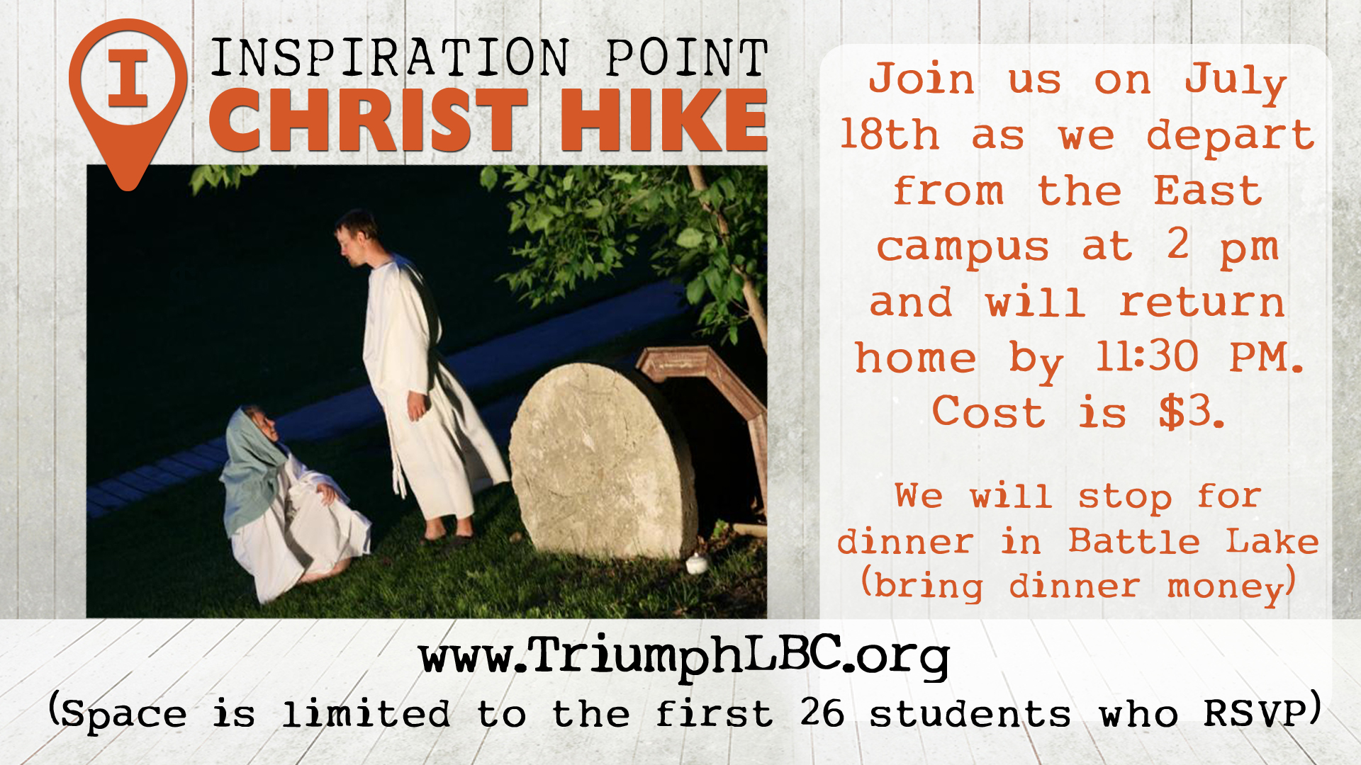 Christ hike 2017triumph