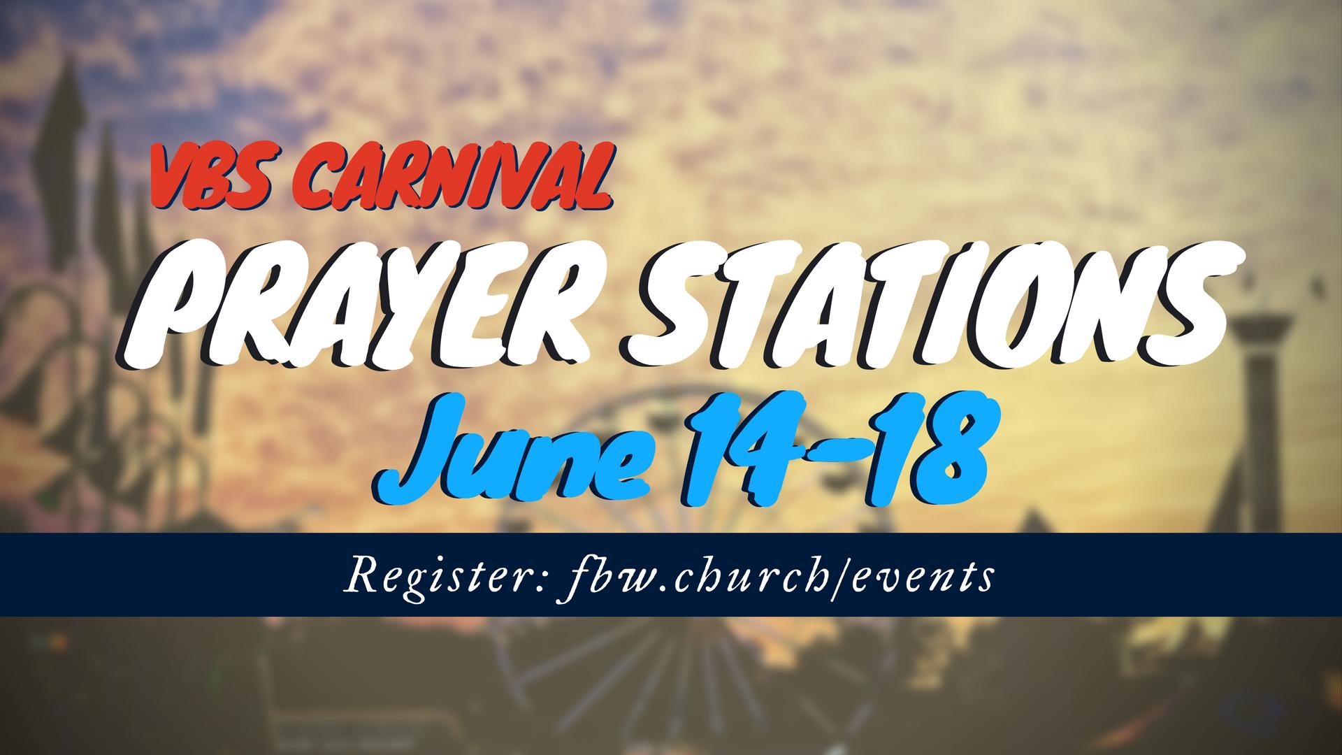Carnival prayer stations