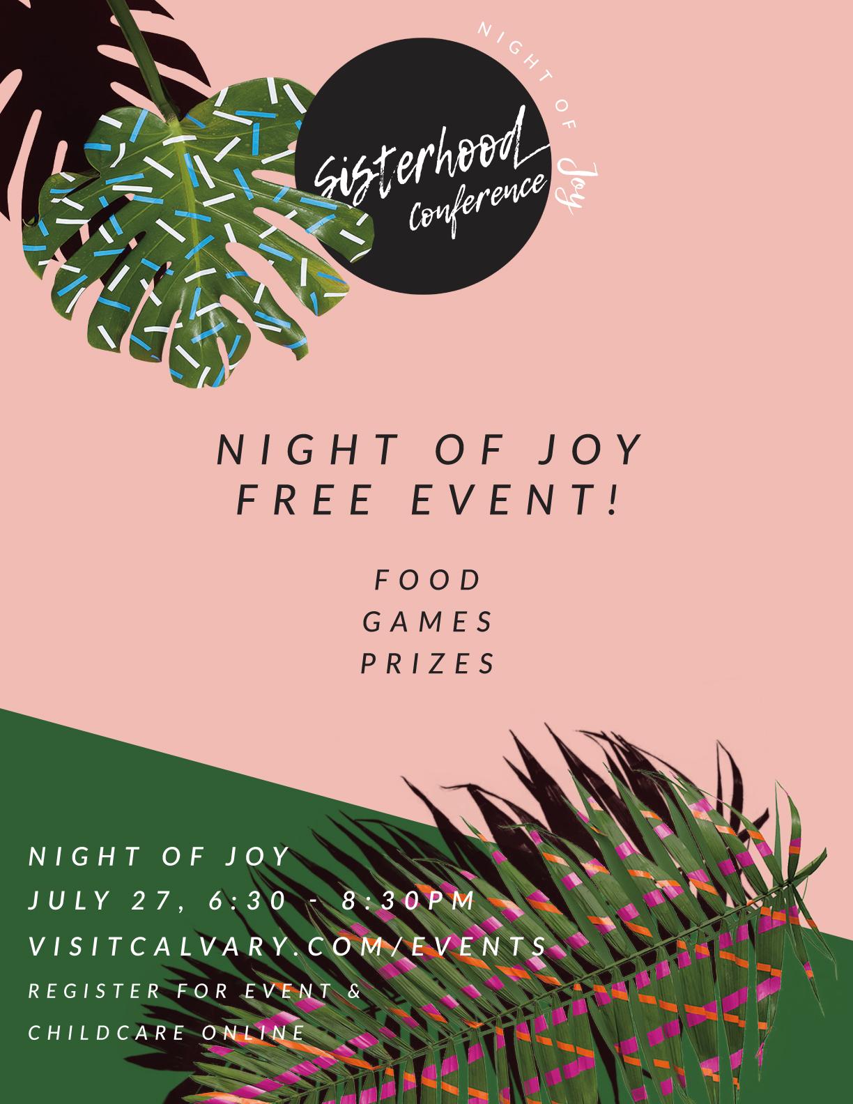 Night of joy ad