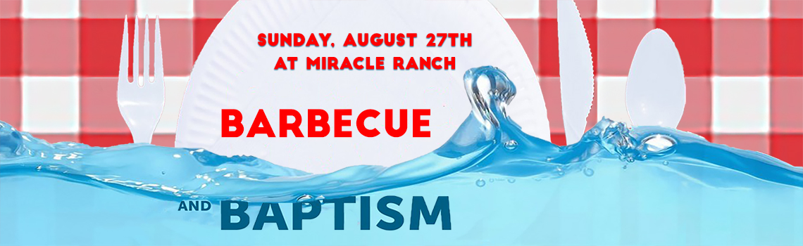 Baptism and bbq event banner
