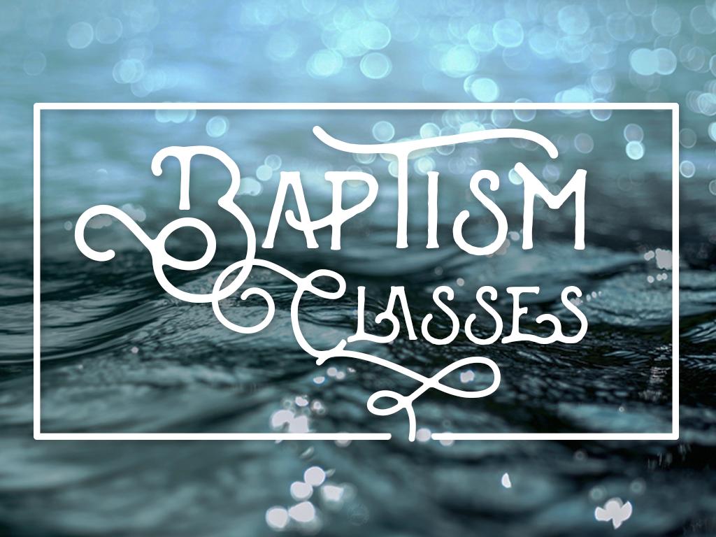 Baptism class 2017 event