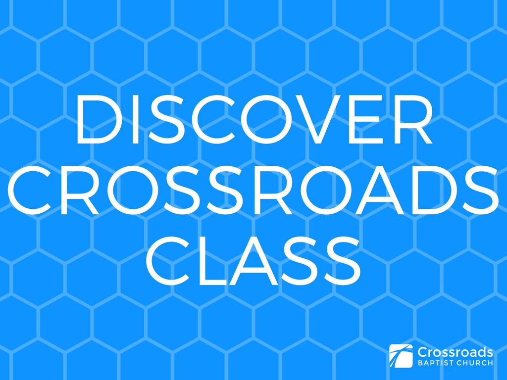 Discover crossroads class