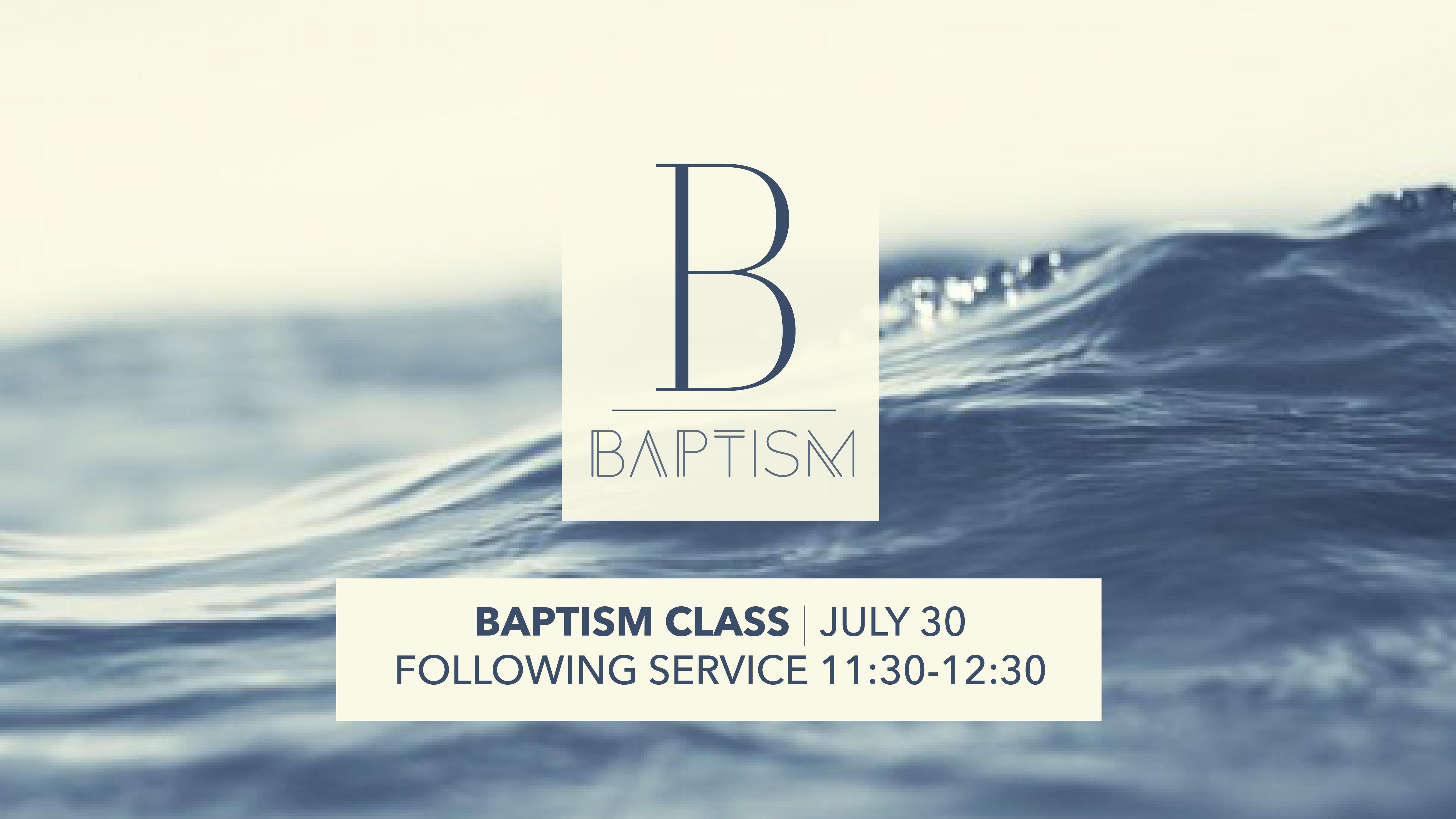 Baptism package slide