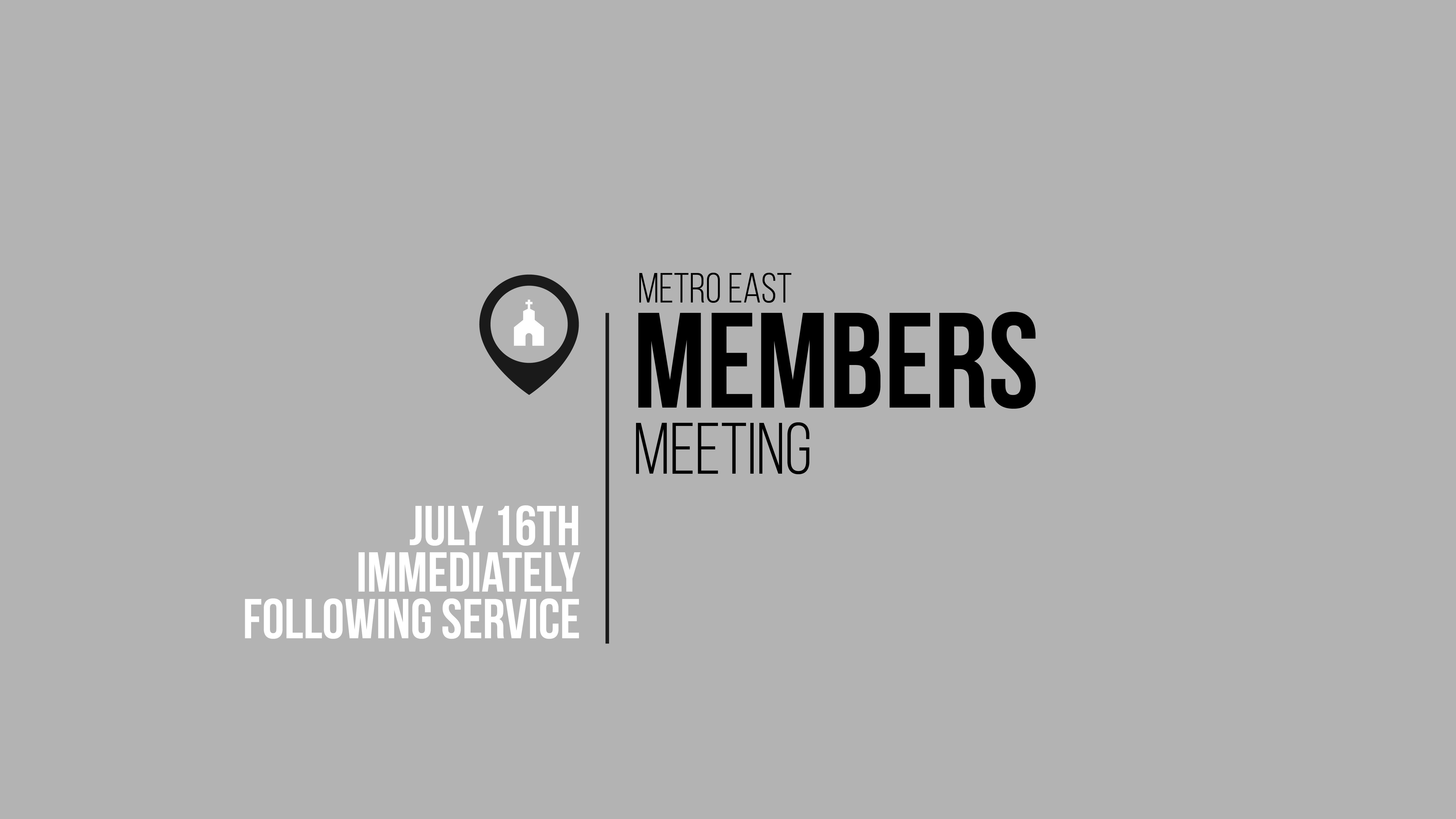 Members meeting slide