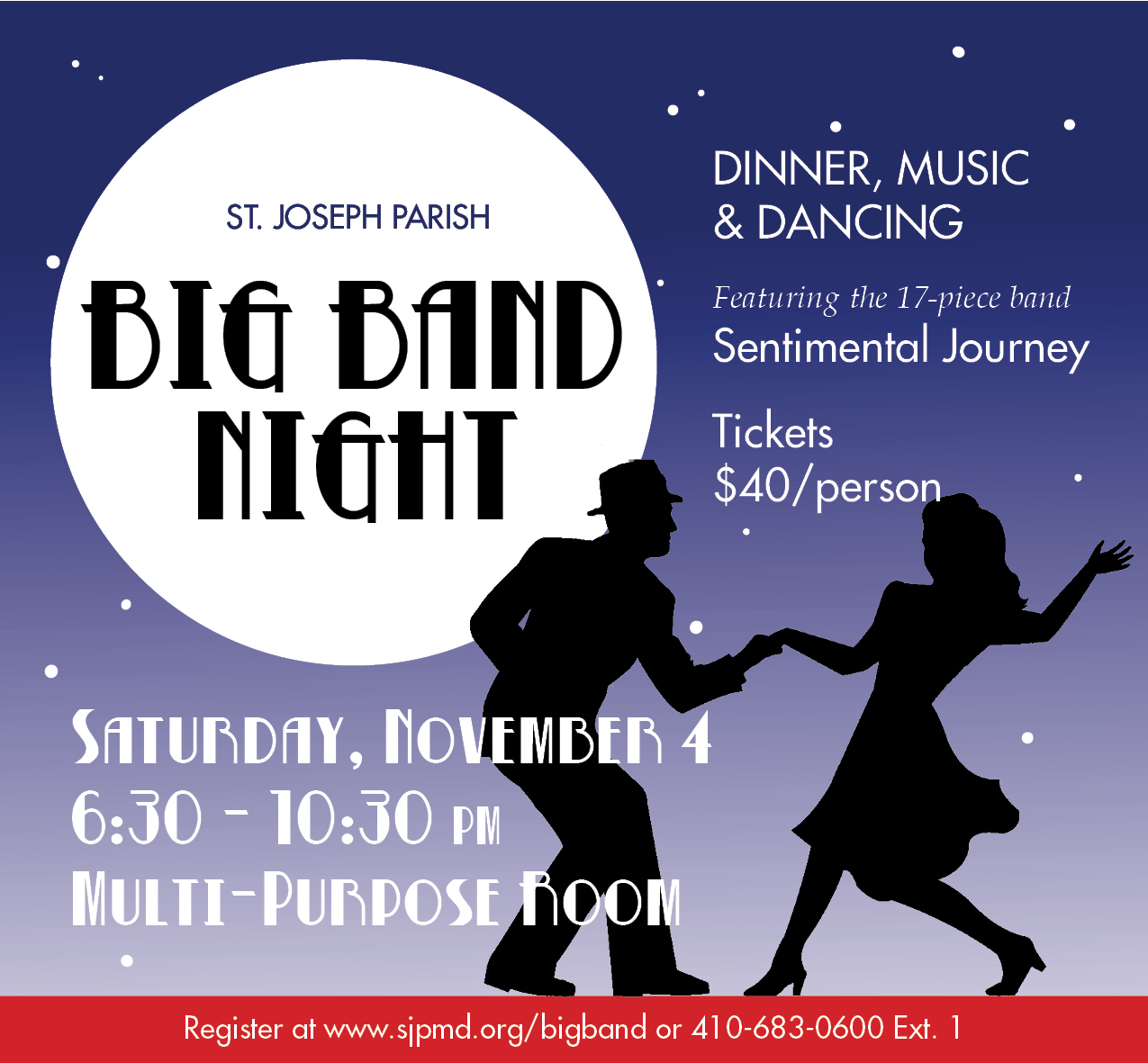 Big band flyer without tear off