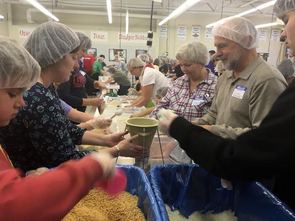 Medium hands against hunger