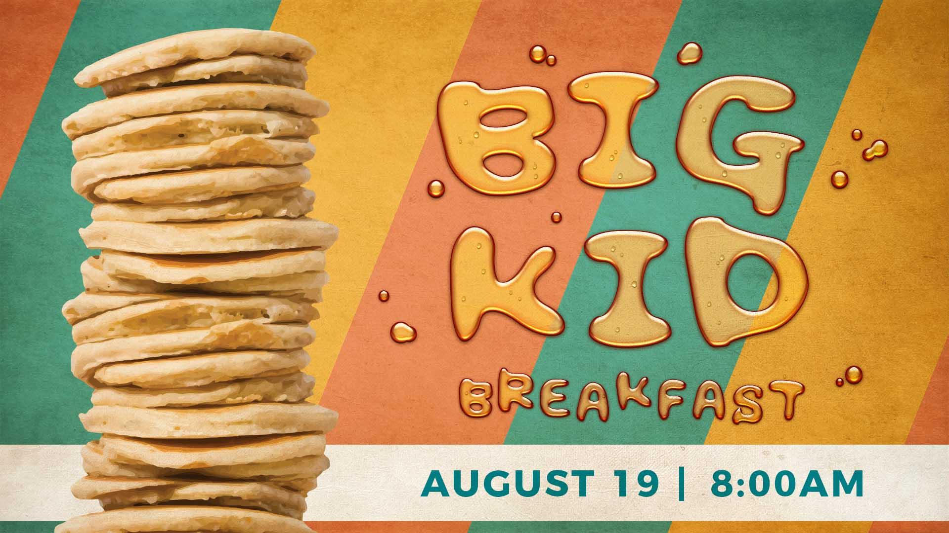 Big kid breakfast slide