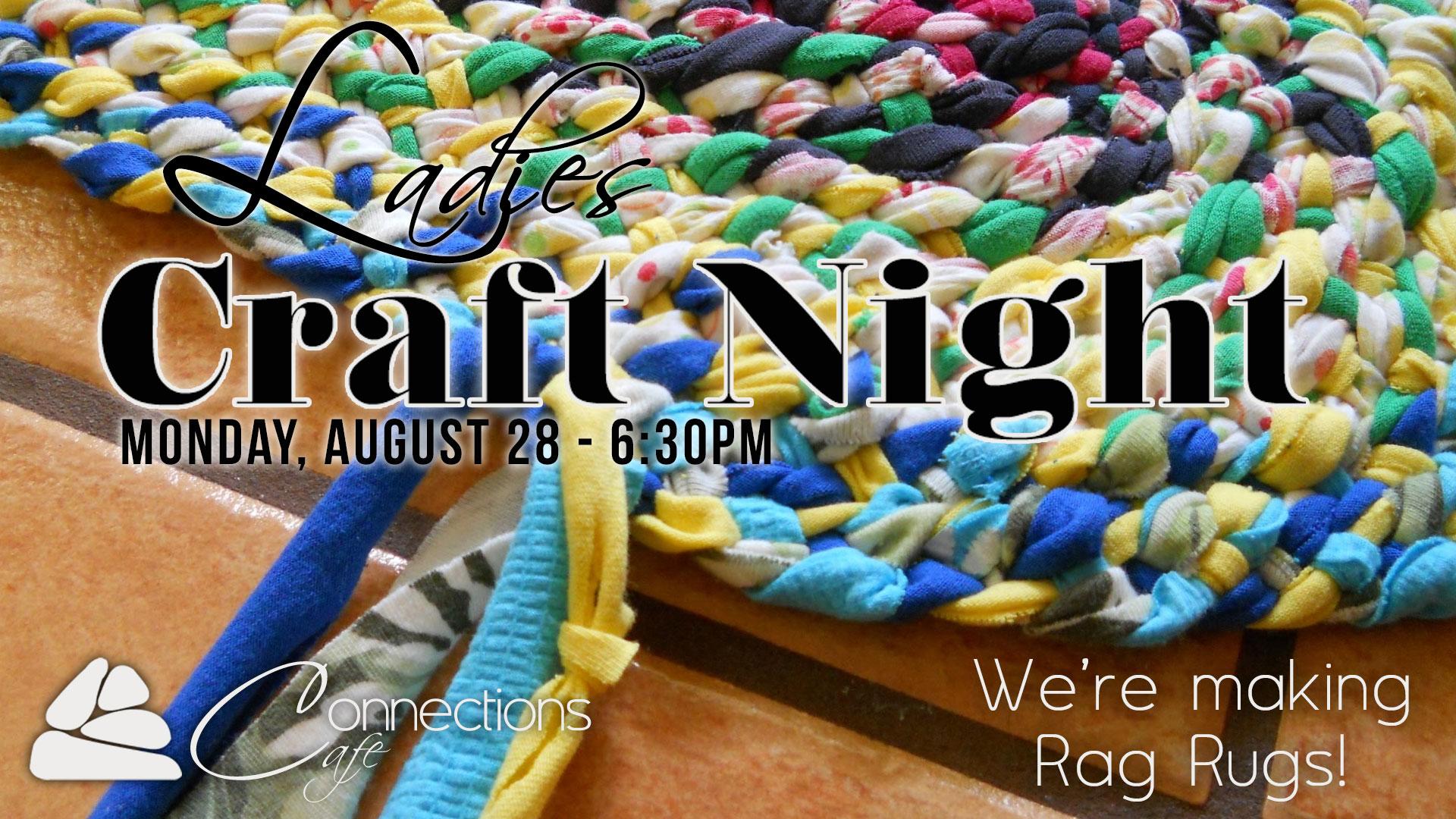 Craft night rag rugs