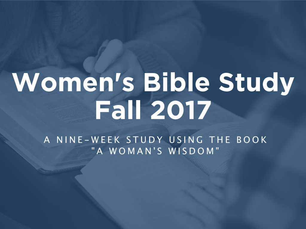 Womens bible study   fall 2017