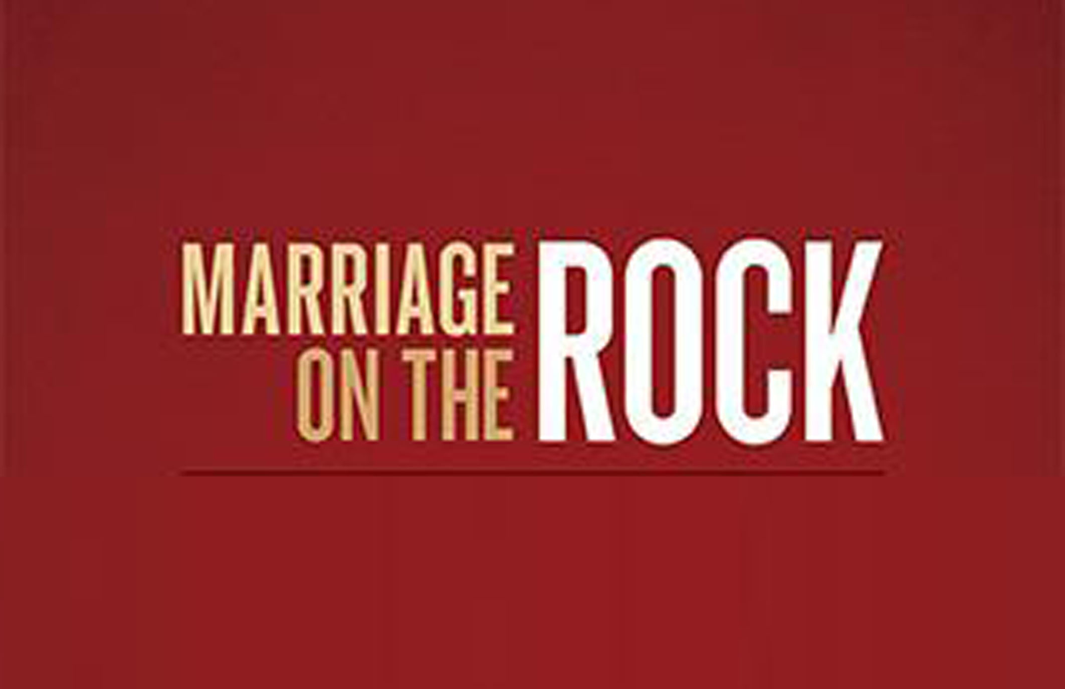Marriage on the rock logo