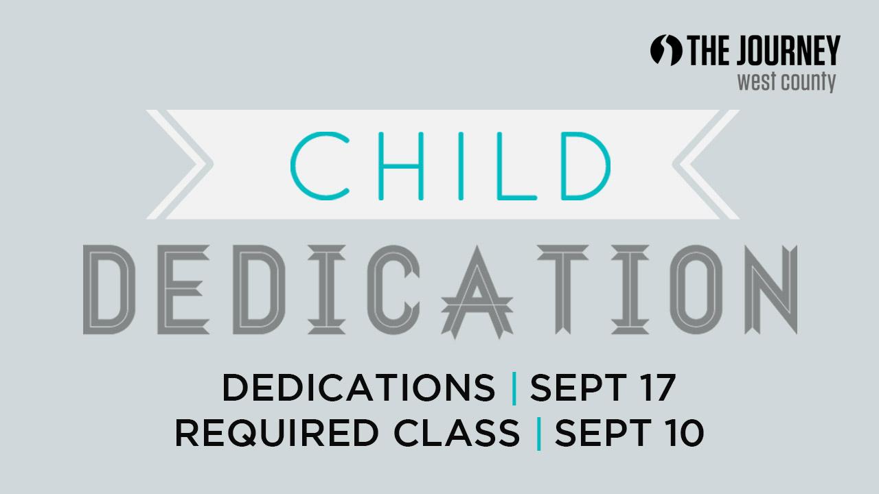 Child dedications 9.2017