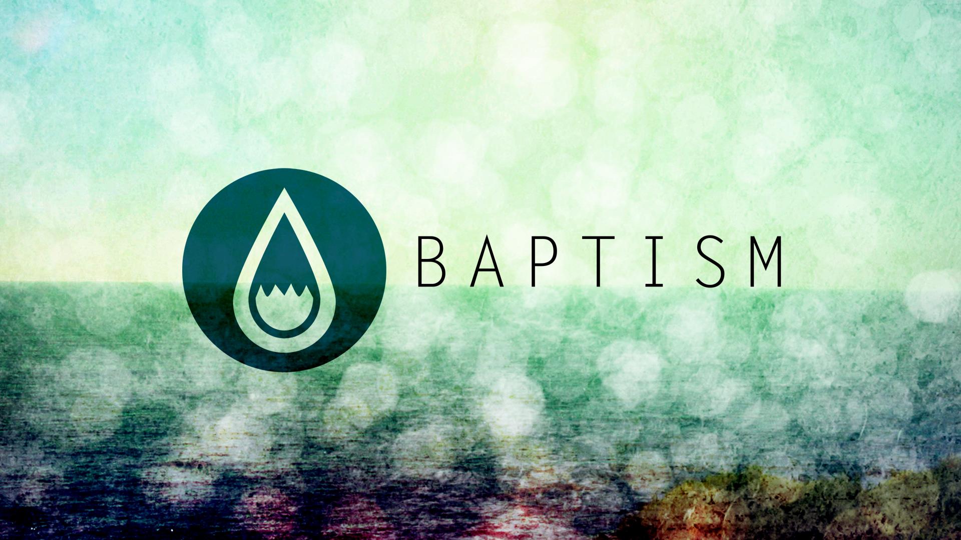 Water drops baptism still