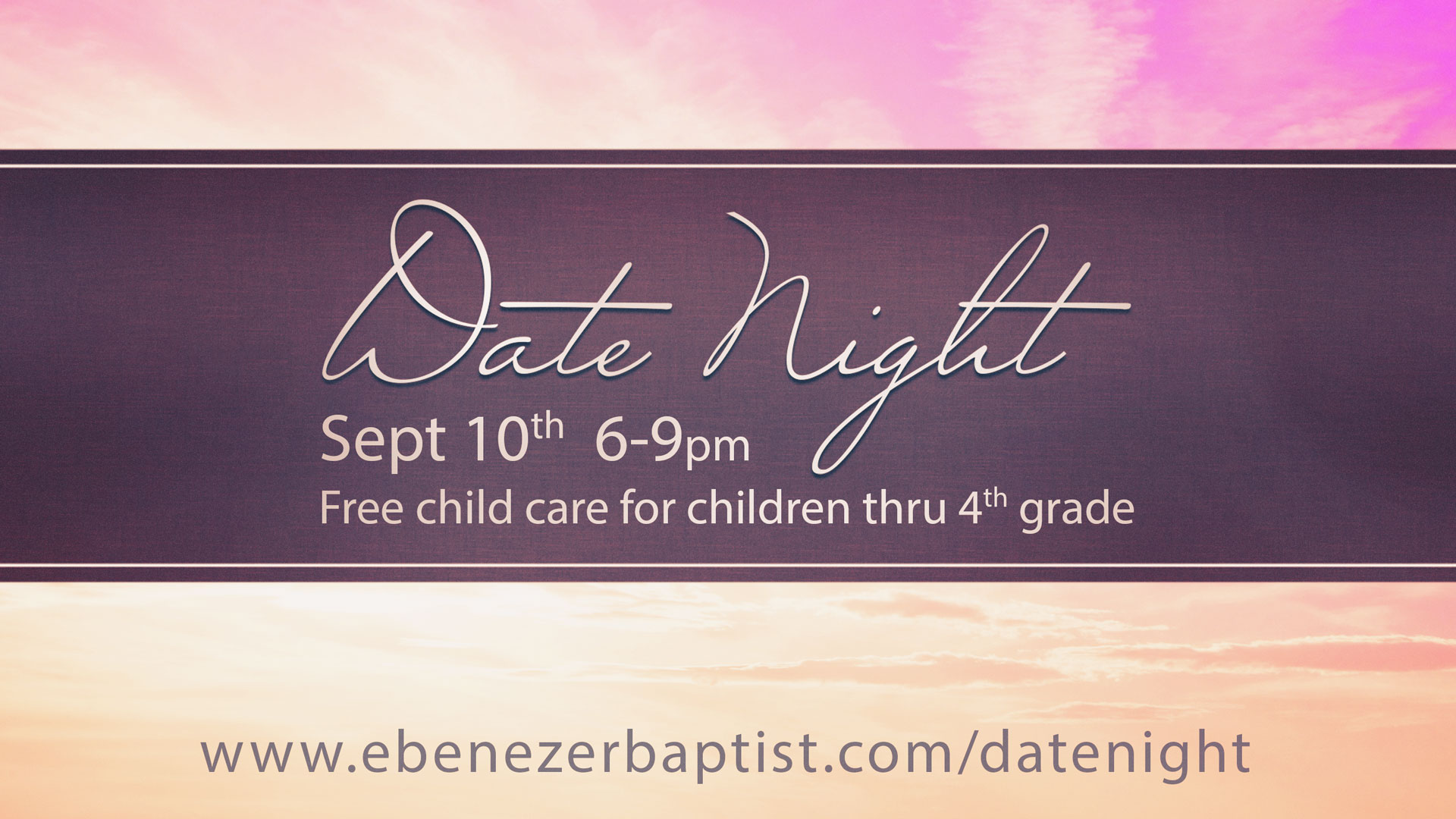 Date night banner