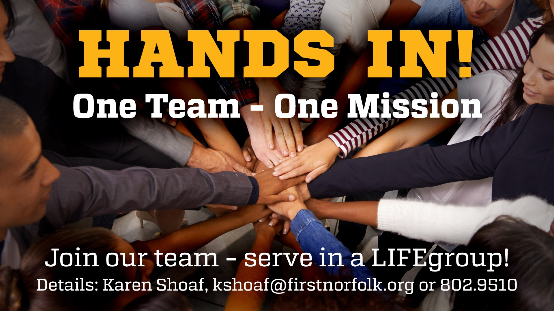 Hands in lifegroup recruitment 2017 slide contact
