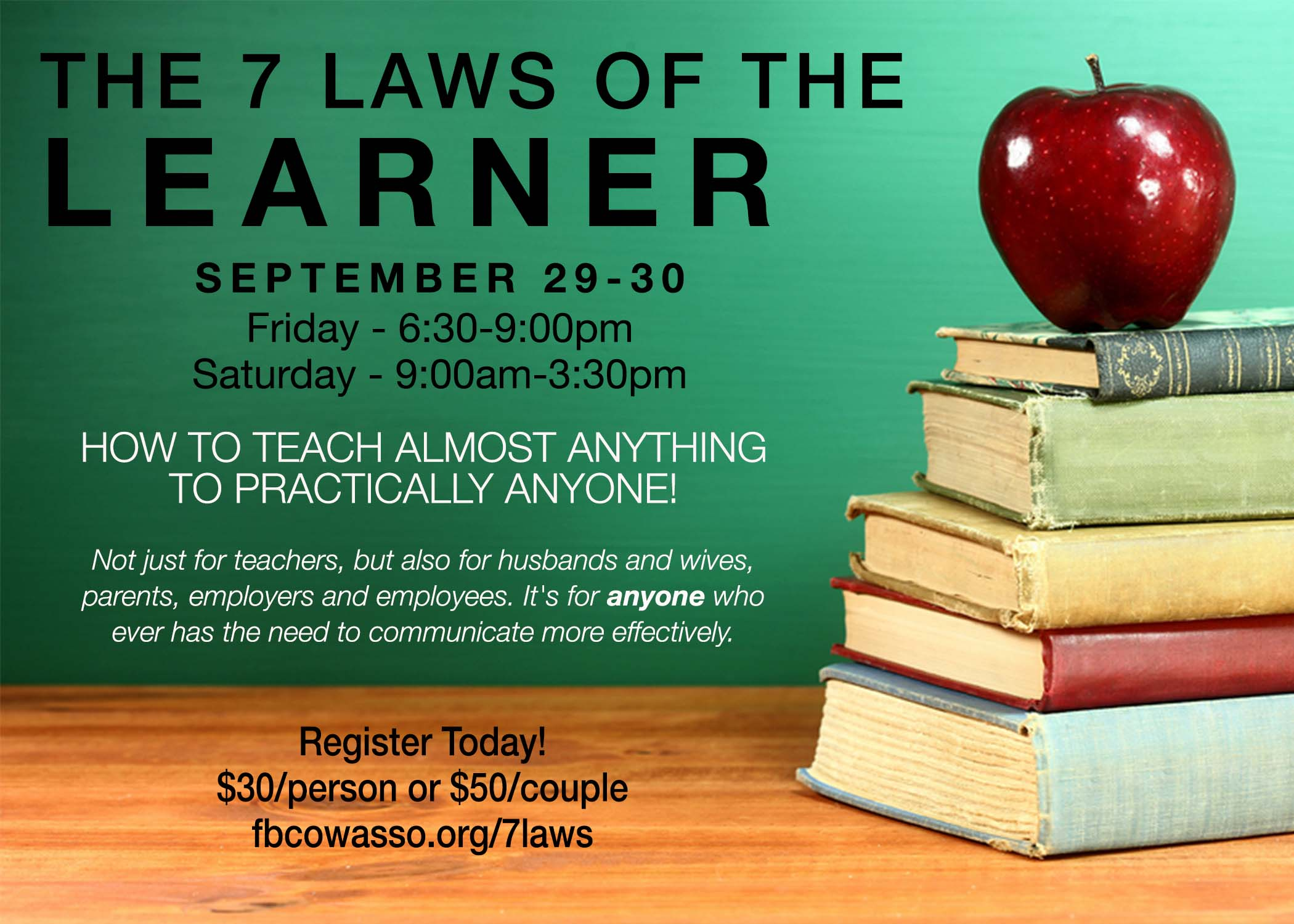 7 laws of the learner promo