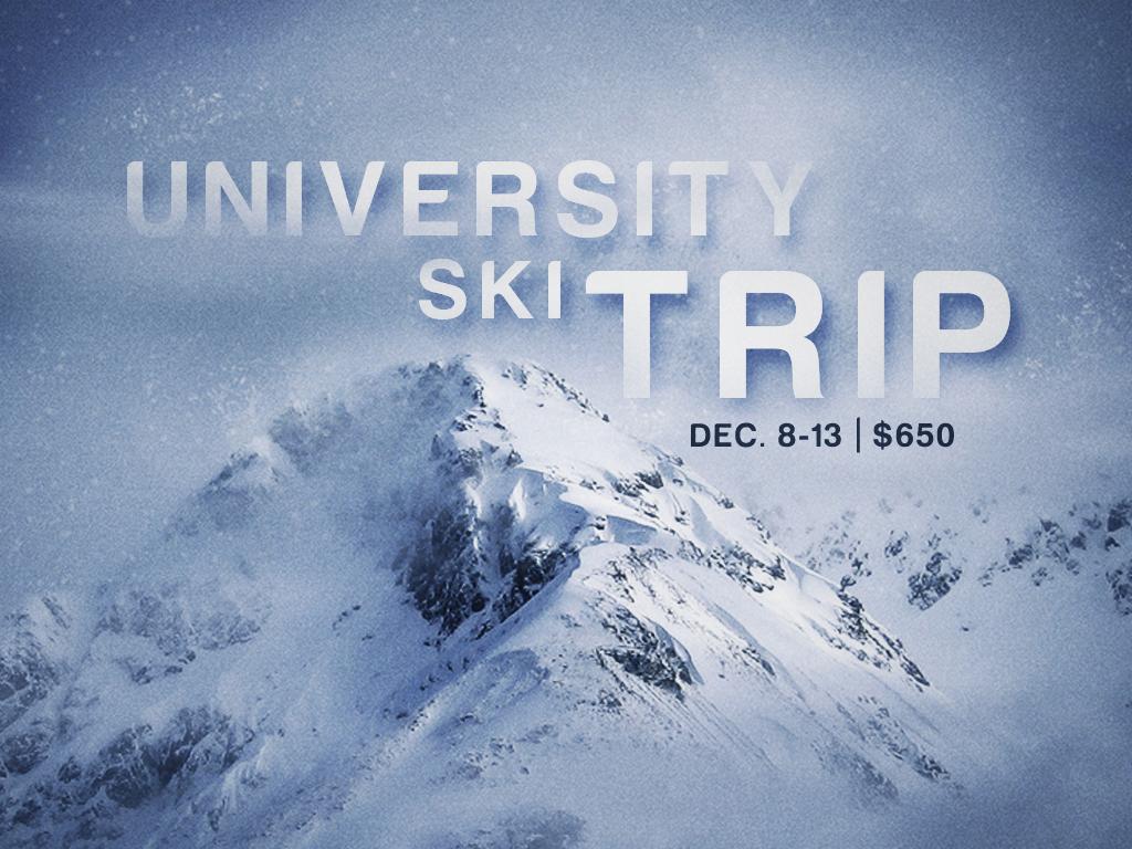 University ski trip registration